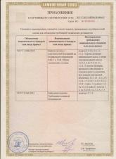 Приложение к сертификату соответствия на кабель силовой ВВГ-П, ВБШв-нг, ВВГ-нг 01.06.19