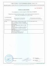 Приложение к сертификату соответствия ВВГнг, ВВГ-Пнг