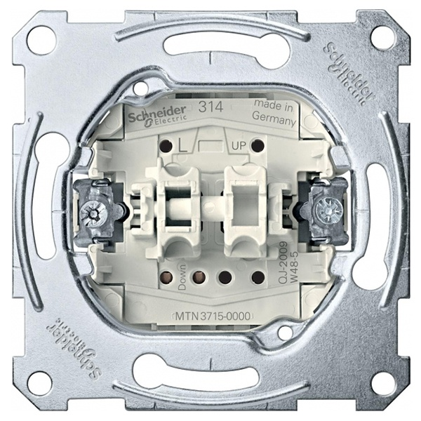 Schneider Electric MTN3715-0000 Выключатель рольставней 1-полюсный Merten механизм (MTN3715-0000) MTN3715-0000