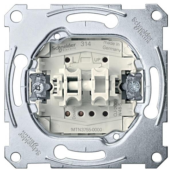 Schneider Electric MTN3755-0000 Выключатель рольставней кнопочный 1-полюсный Merten механизм (MTN3755-0000) MTN3755-0000