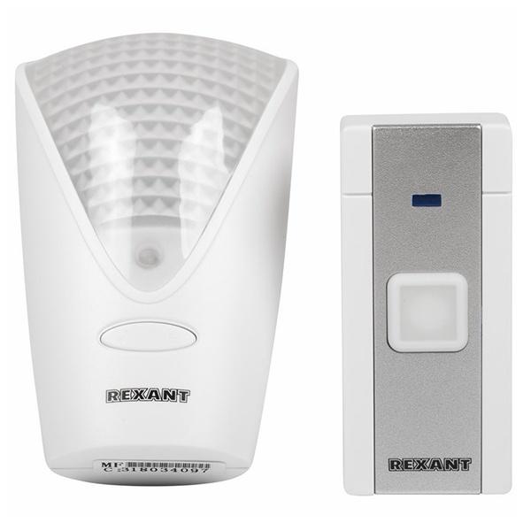 Rexant 73-0070 Беспроводной дверной звонок RX-7 питание от розетки 220 вольт с кнопкой (73-0070) 73-0070
