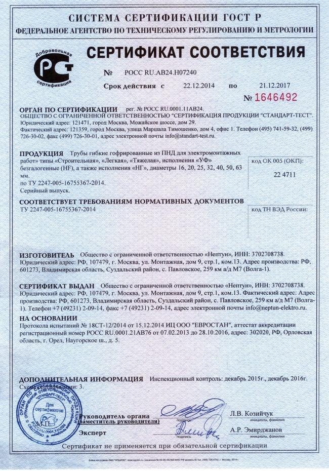 Гост труба гофрированная сертификат качество и сертификация реферат