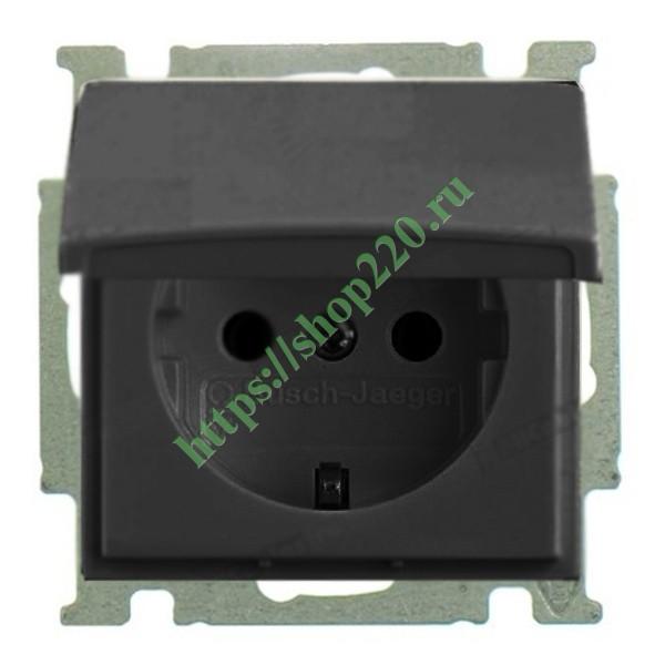 Купить Розетка IP44 ABB Basic 55 в сборе цвет черный (20 EUCKD-95-50 ... c9530e2a6aa