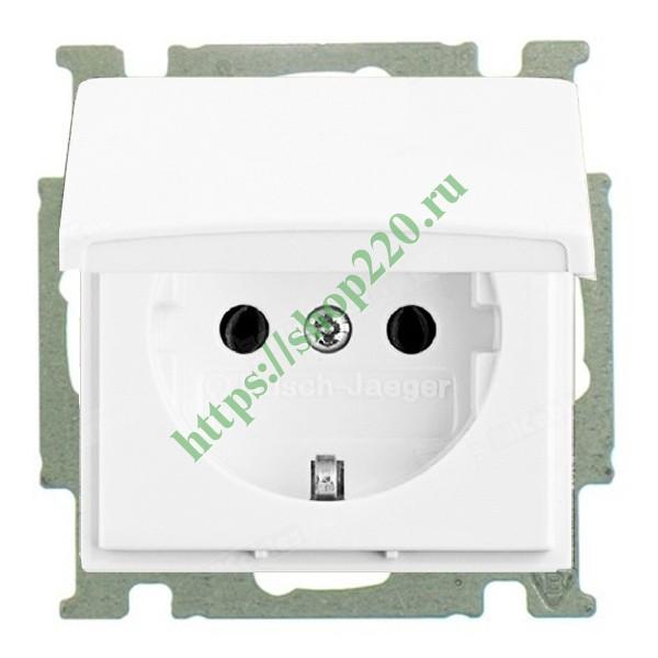 Купить Розетка ABB Basic 55 с крышкой альпийский белый (20 EUK-94 ... b184b993b7a