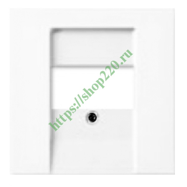 ... Накладка для акустической розетки 0247, 0248, ABB Basic 55 альпийский  белый (2539- f3fe0d996dc