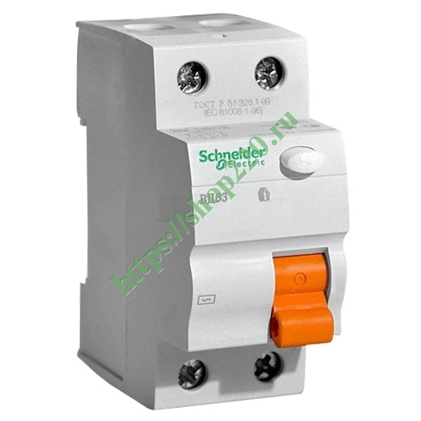 УЗО ВД63 2П 63A 30mA АС Schneider Electric