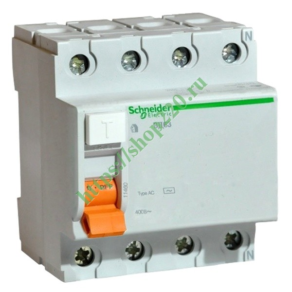 УЗО ВД63 4П 63A 100mA АС Schneider Electric