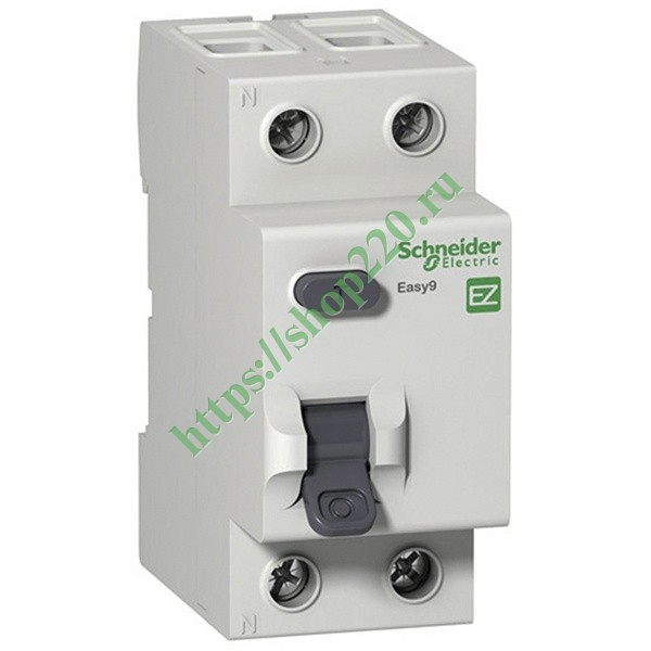 УЗО Easy9 2П 25А 10мА AC 230В Schneider Electric