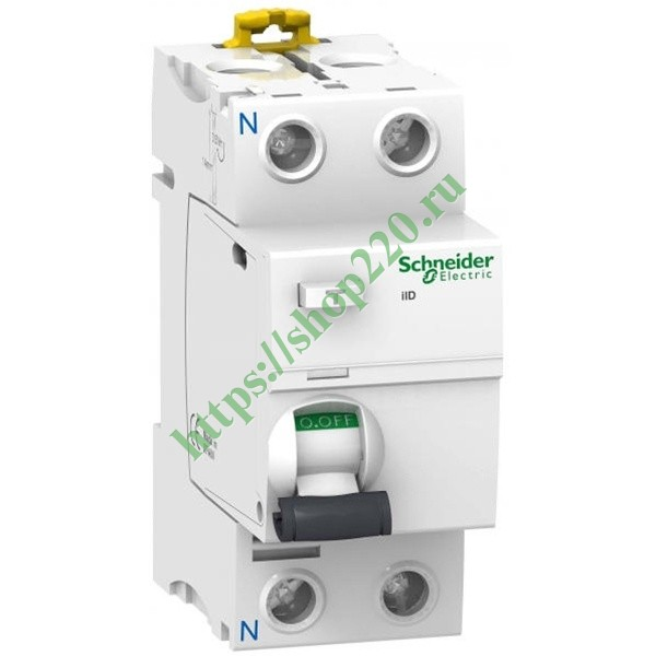 УЗО Acti 9 iID K 2П 25A 30mA AC Schneider Electric