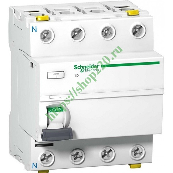 УЗО Acti 9 iID K 4П 63A 30mA AC Schneider Electric