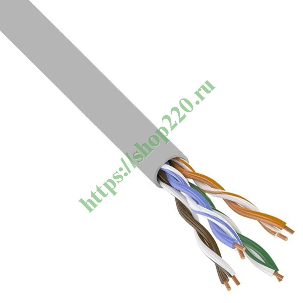 Кабель UTP 4PR 24AWG cat.5e CCA LIGHT витая пара 01-0043-2 [бухта 305м]