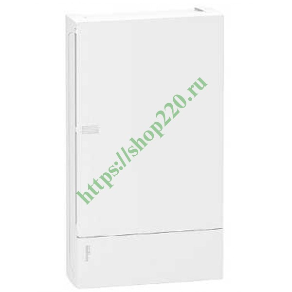 Бокс навесной Schneider Electric Mini Pragma 36 модулей (3x12) с белой дверью 2 шины N и PE