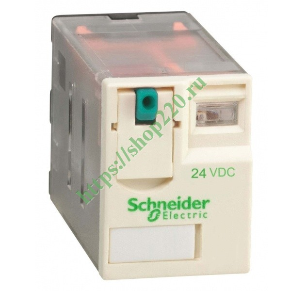 Миниатюрное реле Schneider Electric Zelio Relay  RXM 4 контакта 24В DC 6A