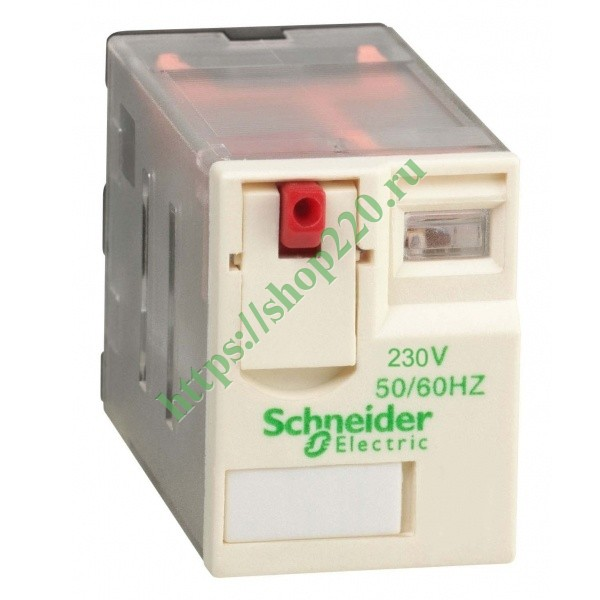 Миниатюрное реле Schneider Electric Zelio Relay  RXM 4 контакта 230В AC 6A