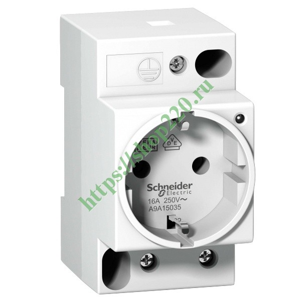 Розетка щитовая iPC Schneider Electric DIN 2П+T 16A 250В с индикацией