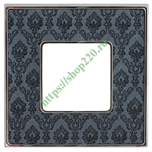 Рамка 1-ная Fede Belle Epoque Tapestry, decornoir-bright chrome