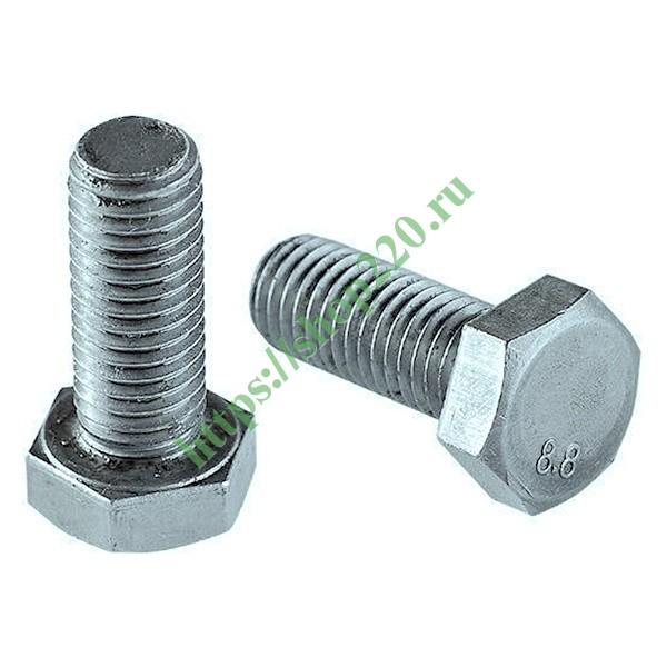 Купить Болт М6х60 с шестигранной головкой оцинкованный DIN933 00005521 по цене 2.6 р. в наличии vdl154048