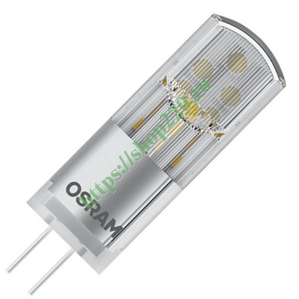 Лампа светодиодная Osram new LED P PIN 30 2.4W 827 12V G4 FR 300Lm d14x44mm