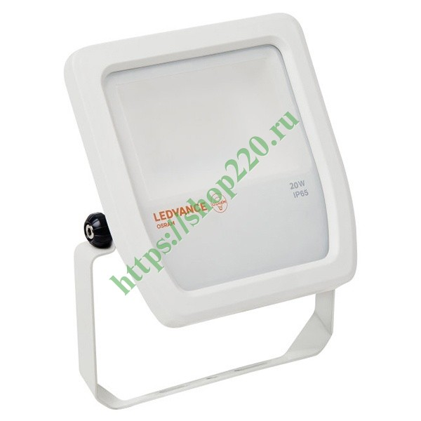 Прожектор светодиодный Osram FLOODLIGHT LED 20W/3000K 2100lm WHITE IP65 130x140x41mm