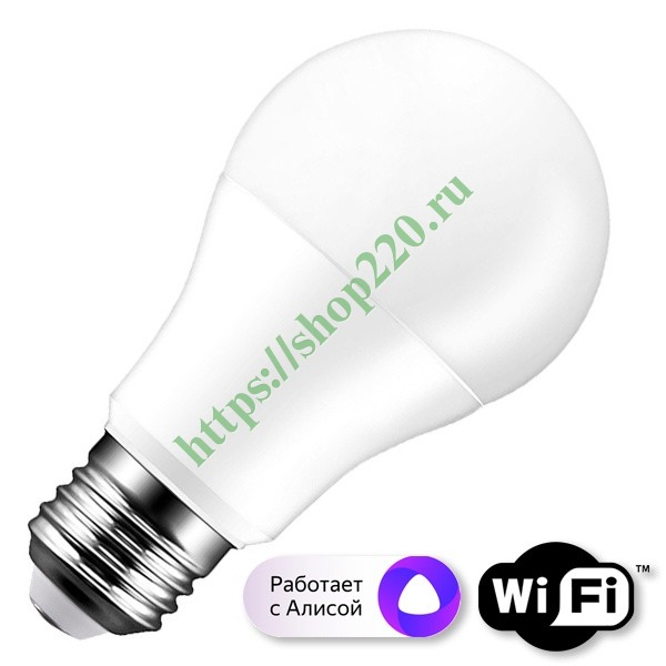 WIfI лампа светодиодная FL-LED A60-SMART 10W E27 Wi-Fi MultiCOLOR 220V 60x112mm