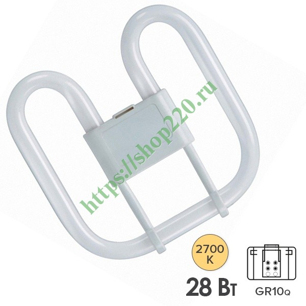Лампа Osram CFL Square 28W/827 4-Pin GR10q теплая
