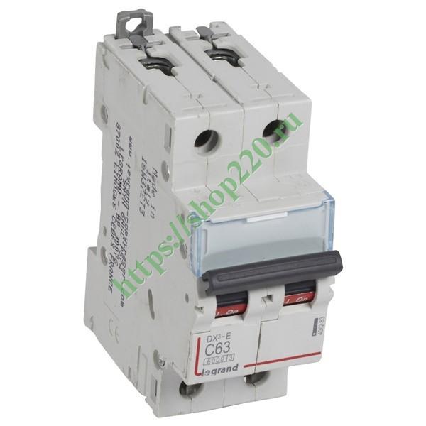 Купить Автоматический выключатель Legrand DX3-E C63 2П 6000/6kA (автомат) 407283 по цене 1710.97 р. в наличии vdl43767