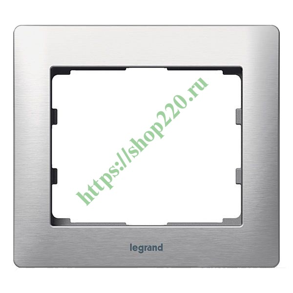 Рамка Legrand Galea Life 1 пост Brushed Aluminium