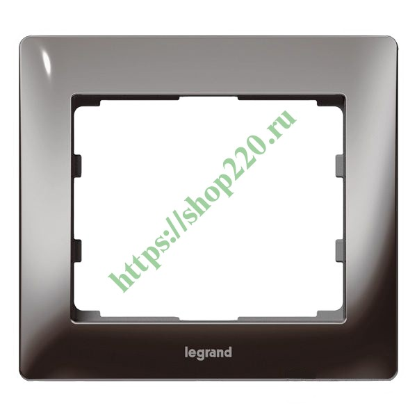 Рамка Legrand Galea Life 1 пост Black Nickel