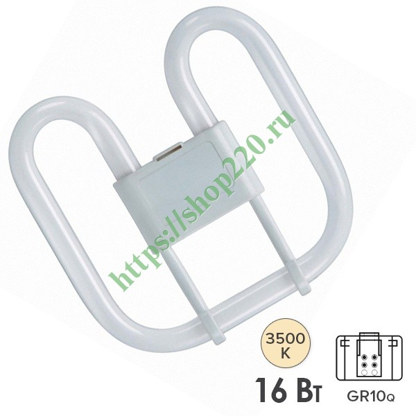 Лампа Osram CFL Square 16W/835 4-Pin GR10q белая