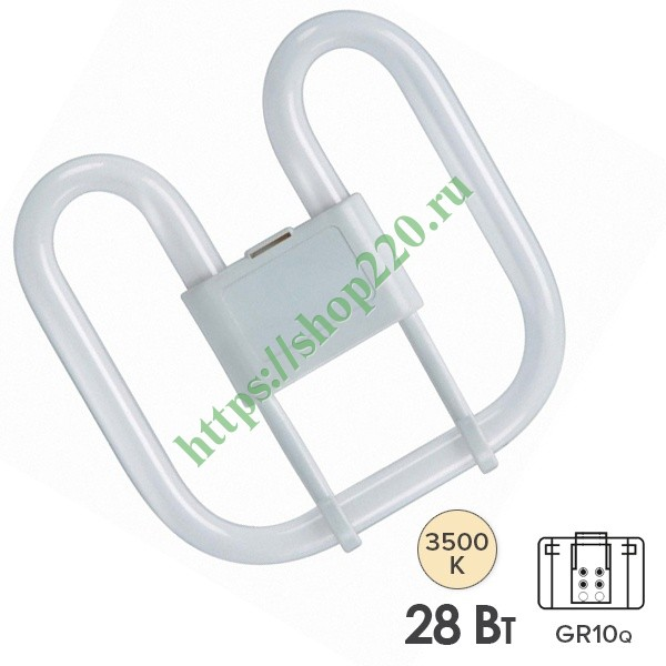 Лампа Osram CFL Square 28W/835 4-Pin GR10q белая